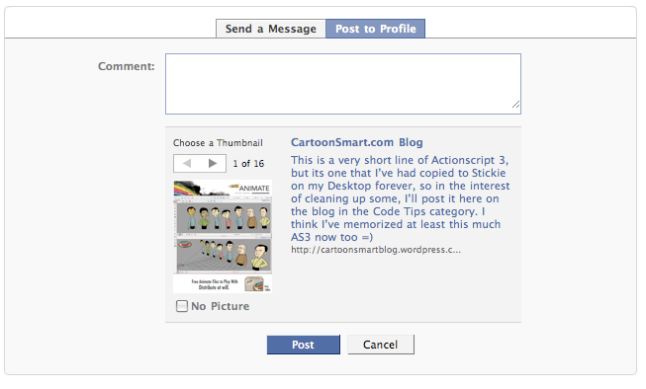 How to submit content to Facebook