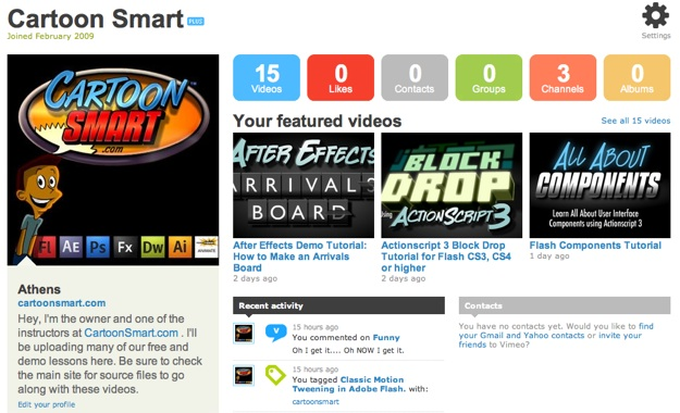 CartoonSmart Vimeo page
