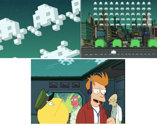 Fry vs. Space Invaders