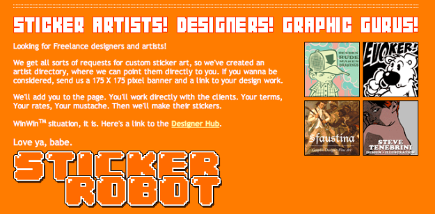 Sticker Robot Designer Gallery