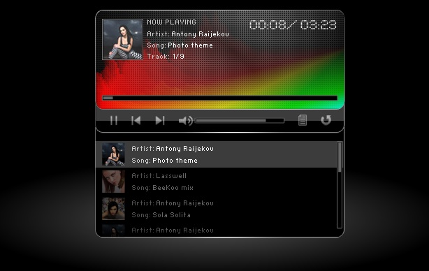 Flash Mp3 Player with Color Spectrum