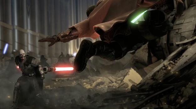 Vadar fighting minus his helmet??