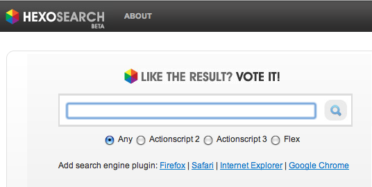 Actionscript Search Engine