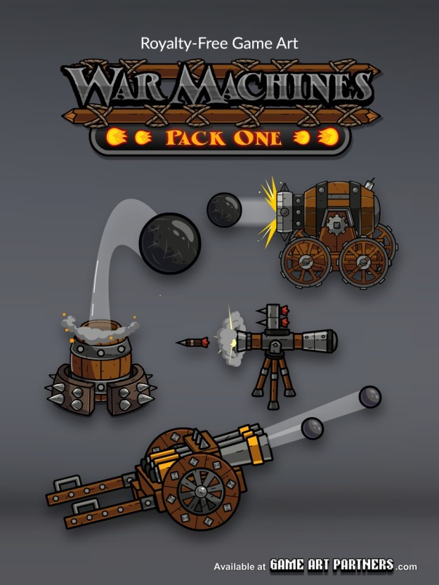 War Machines Game Art Assets