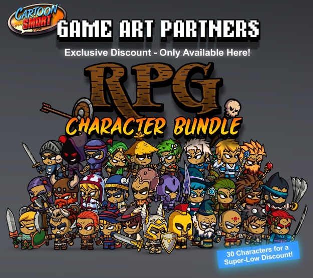 Royalty Free Character Art Bundle of 2D Game Assets