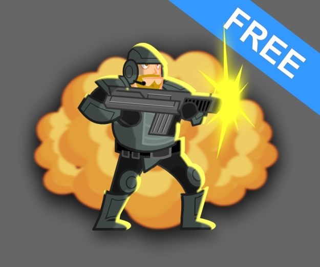 Royalty Free Game Art Military Character