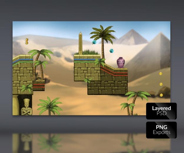 Royalty free 2d game art, platform set